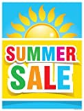 P40SMR Holiday Seasonal Summer Sale Vinyl Window Sale Sign Posters Retail Business Store Signs (P40-25'' x 33'')