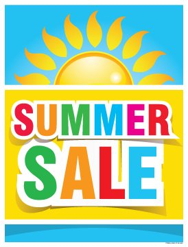(P15SMR Holiday Seasonal Summer Sale Vinyl Window Sale Sign Posters Retail Business Store Signs (P15-22