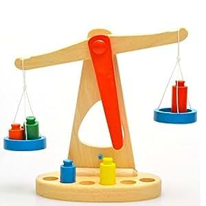 Amazon.com: Shentesel Báscula de peso Montessori de madera ...
