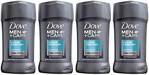 Dove Men+Care Antiperspirant Deodorant Stick, Clean Comfort 48 Hour Protection, 2.7 oz 4 ct