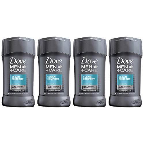 Dove Men+Care Antiperspirant Deodorant Stick, Clean Comfort 48 Hour Protection, 2.7 Ounce (Pack of 4)