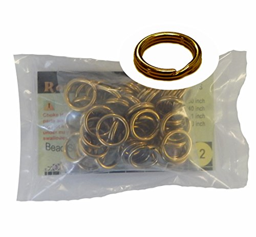 - 48 Split Ring Fishing Lure, Lanyard, Dog Tag Connector Polished Brass 15mm Made in the USA