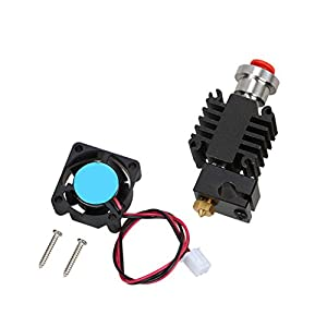 Jili Online V6 Hot End Full Kit for 1.75mm Bulldog,MK8 3D Printer Long Range Extruder Parts Accessories 0.4mm Nozzle 12V Fan from Jili Online