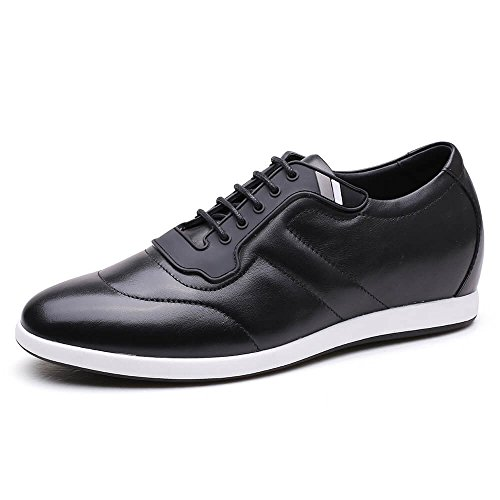 CHAMARIPA Men Casual Elevator Shoes Black Height Increasing Sport Shoes Black 2.36 inches H72305K111D US12 D(M) (Skate Shoes Rival)