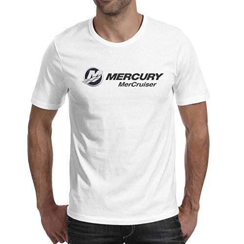 novelkseer Casual Mens Guys Cotton Sports O-Neck Mercury Marine mercruiser Logo Short Sleeve T Shirt