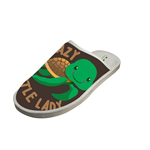Grand Crazy Turtle Lady Memory Foam House Washable Anti-slip Indoor Slippers