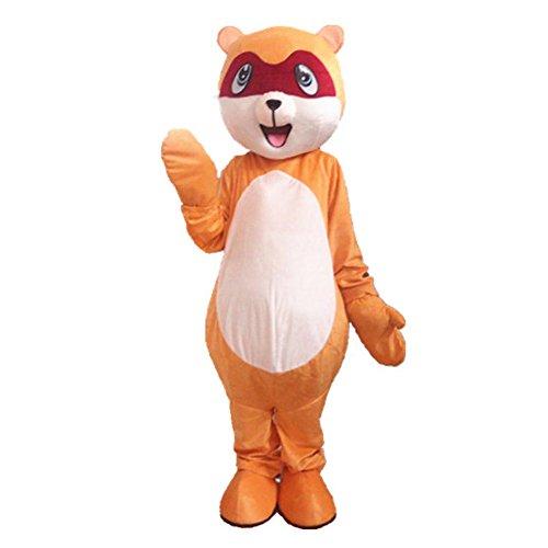 Little Raccoon Mascot Costume Cartoon Halloween Party Dress Adult Size ()