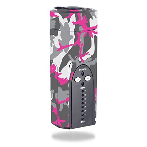 Decal Sticker Skin WRAP - Arizer Solo - Pink Camouflage Hot Pink -