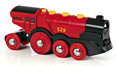 BRIO Mighty Action Locomotive, (Wooden Train Battery)