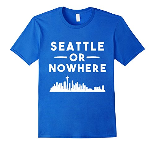 Mens Seattle Or Nowhere Washington Pride West Coast Rain Port Sta 2XL Royal