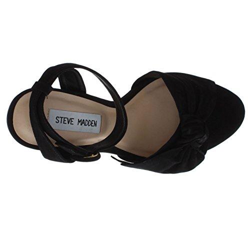 4 5 Solki Musta Uk Steve Piikkikorot Sandaalit Kiinnittämiseksi Breena Madden Alustan Naisten Wn76Pqv4
