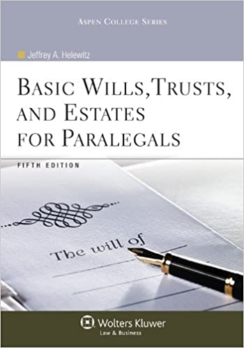 Book Basic Wills, Trusts, and Estates for Paralegals [With Access Code] (Aspen College)