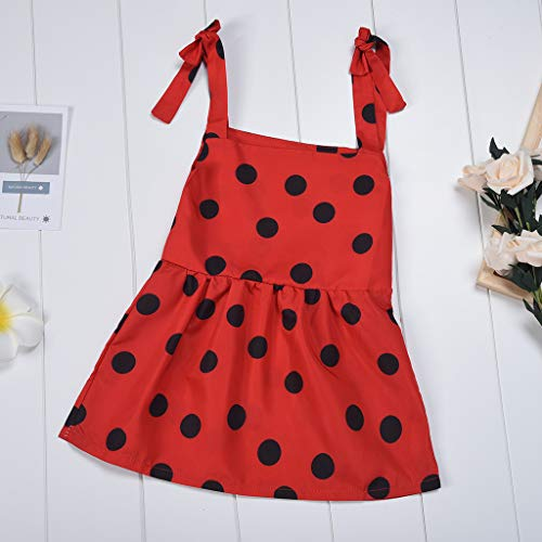 Robe Pour De Vintage Et Courte Vêtements Fille Maman Pois Costumes Photographie Bébé Chic Femme Imprimés Famille Vacances rouge Fille Giveki robes Mère lF1KcJ