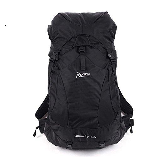 ALUK-Wasserdichte im Freien Männer und Frauen Bergsteigen Tasche Wandern / 50L Reisetasche-schwarz 50L