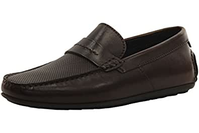 HUGO by Hugo Boss Mens Travelling Dandy Suede Moccasin Slipon Loafer  FR5GHZ71N