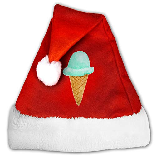 Goods Shops Unisex Santa Hat Velvet Christmas Hat Light Color Ice Cream Christmas Hat 30 -