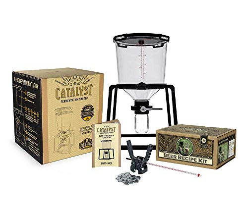 Deluxe Bottling System - Craft A Brew Premium Homebrew Starter Home Brewing -6.5 Gallon Conical Fermenter - 5 Gallon Bone Dry Irish Stout Recipe Capping Kit, Done