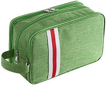 YouNITE 大容量トラベルコスメティックバッグ女性のアウトドアメイクアップオーガナイザーポーチメンズ出張トイレタリーストレージキットアクセサリー (Color : Green, Size : M)