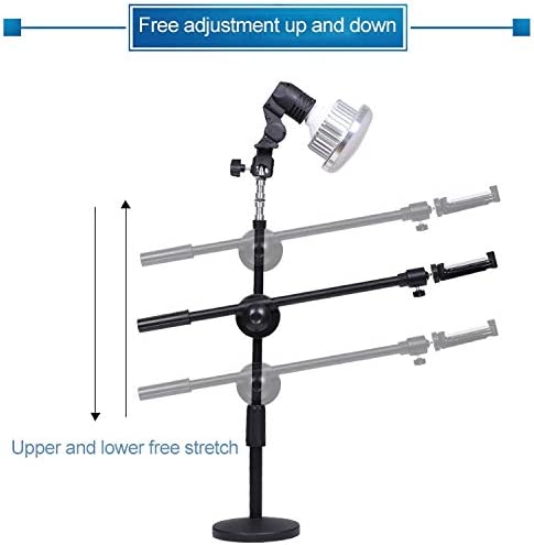 GzPuluz Tricolor Light Supplement Photography Micro-Course Video Recording Mobile Phone Overhead Bracket