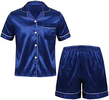 メンズ パジャマ 寝巻き ルームウェア 男性 パジャマ ナイトウェア 半袖 サテン地 軽量 ゆったり 快適 大人用 春 夏 2点セット 部屋着 寝間着 日常着