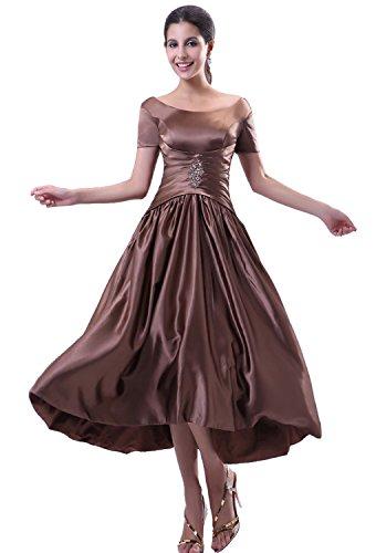 Angel Formal Dresses Women's A Line Tea Length Taffeta Mother Of The Bride Dress (18)