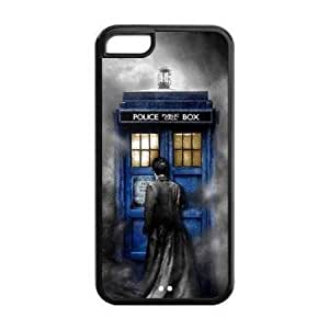 Keep Calm and Get Sherlock for iphone 5c iphone 5c Case Cover 026127 Rubber Sides Shockproof Protection with Laser Technology Printing Matte Result