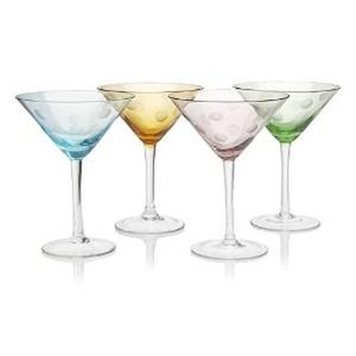 Artland Set of 4 Polka Dot Martini Glasses