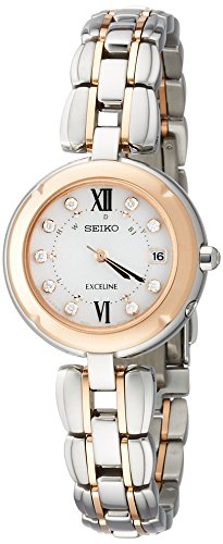 SEIKO EXCELINE titanium Solar Radio SWCW124 Ladies(Japan Import-No Warranty)