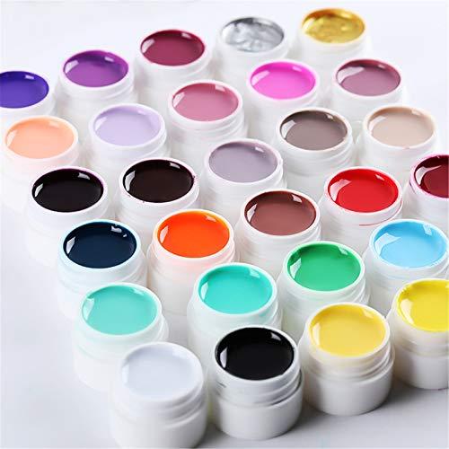 8ML Stamping Gel Nail Art Stamping Gel Polish Printing Gel Red Purple Blue Yellow Black White Soak Off Nail Art UV Gel Polish for Nail Stamping Plate (A)