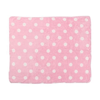 Amazon.com : DealMux flanela Imprimir Dot Pet Cat quatro Bed Almofada Dormir Cobertor cão Mat 40 x 50cm Rosa Branco : Pet Supplies