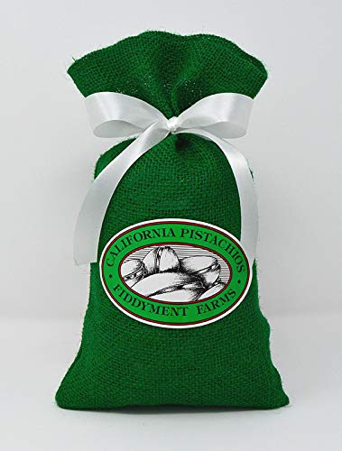 Fiddyment Farms 1 Lb Lightly Salted Pistachios in Green Burlap Bag ()