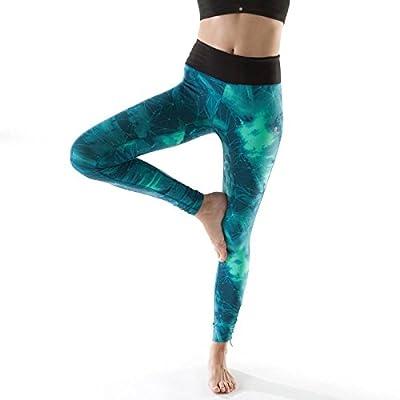 MAYUAN520 Mme Winter Yoga Fitness Pantalons Pantalons Taille Épaissie Peach Fesse Collants Pantalon Élastique Respirante À Séchage Rapide,Xl, Bleu-Vert