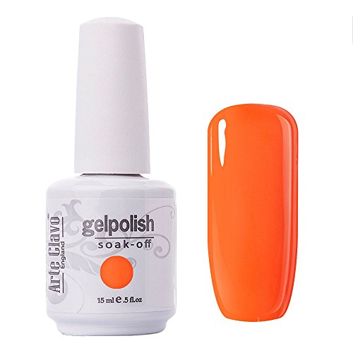 Arte Clavo Dark Orange Nail Gel Polish Harmless Resin Professional Lacquer Soak Off Nail Art UV Lamp & LED 15ml