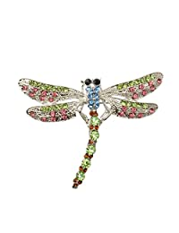 New Fashion Dragonfly Crystal/Rhinestone Brooches Pin for Women/Men