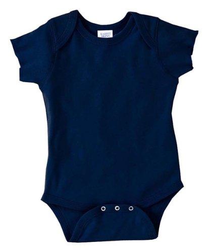 Rabbit Skins Infant Baby Rib Lap Shoulder Bodysuit (Navy) (NB)