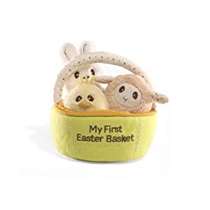 Amazon Gund My First Easter Basket Playset Toys Amp Games