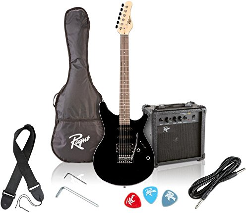 Rogue Rocketeer Electric Guitar Pack (G10 Inlay Black Blade)