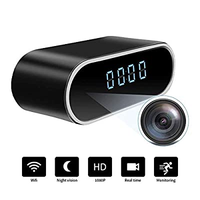 WiFi Hidden Spy Camera Clock |Full HD 1080P|Tiny Wireless Real-time Camcorder|150°Angle Night Vision Motion Detection|Indoor Home Security Monitoring|Baby&Pet Surveillance|USB Plug & Battery from WooBrit