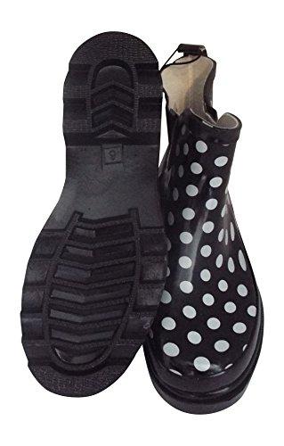 Womens Kort Ankel Gummi Regn Støvler Flere Stiler Tilgjengelig Polka Dot