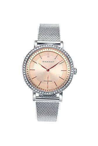 Viceroy Reloj Analogico para Mujer de Cuarzo con Correa en Acero Inoxidable 471110-97: Amazon.es: Relojes