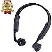 Bone Conduction Headphones Open-ear Wireless Headset Bluetooth 4.1 Earphone with Microphone IPX5 Sweatproof Good for Running&Jogging&Cycling&Hiking&Climbing