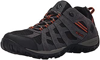 Columbia Men's Redmond Trail Shoe, Black/Heatwave, 9 D US