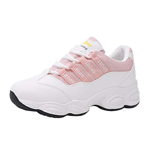 - Respctful✿Womens Fashion Sneakers, Slip-On Lightweight Casual Walking Shoes Gym Breathable Mesh Sports Shoes Pink
