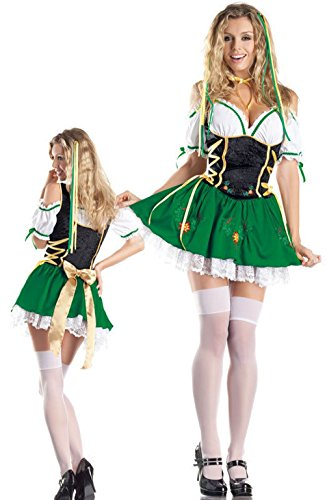 [Mememall Fashion Sexy Oktoberfest Beer Girl Garden Dress Outfit Adult Halloween Costume] (Sexy Beetlejuice Costumes)