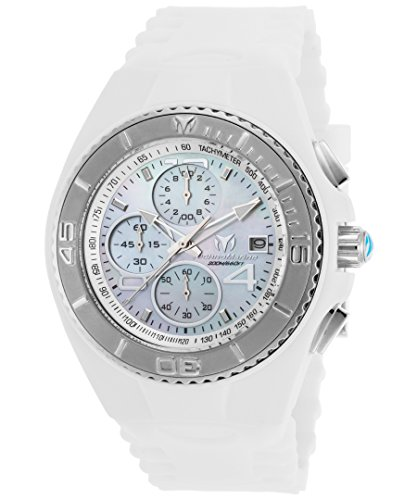 Technomarine Men's 'Cruise' Quartz Stainless Steel and Silicone Casual Watch, Color:White (Model: TM-115356) (New Chronograph Steel Technomarine Stainless)