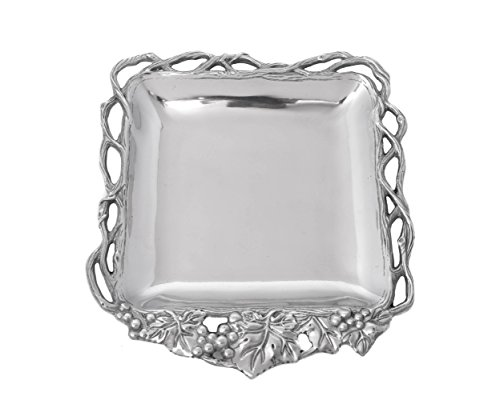 Grape Serving Tray (Arthur Court Designs Aluminum Grape Open Vine Square Tray 12