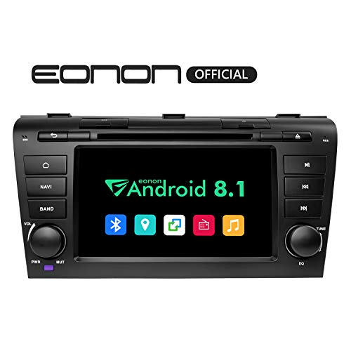 Eonon 2019 Bluetooth Car Stereo Android 8.1 Car Radio 2GB RAM +32GB ROM Quad-Core 7 Inch in Dash Touch Screen Radio Applicable to Mazda 3 Series 2004-2009 Compatible with Bose System-GA9251B