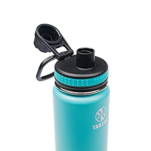 Takeya Originals Insulated Stainless Steel Water Bottle, 24 oz, Ocean