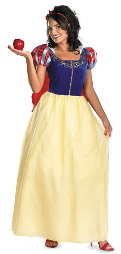 [Disguise Women's Disney Snow White Deluxe Costume, Yellow/Red/Blue, X-Large] (Used Plus Size Halloween Costumes)