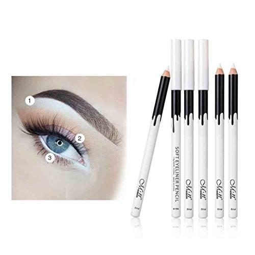 ❤JPJ(TM)❤️ Women Eyeshadow Pen,12pcs Girls New White Eyeliner Pencil Eye Liner Waterproof Long Lasting Eye Brighten Makeup for Creating Natural Eye Cosmetic (White) -